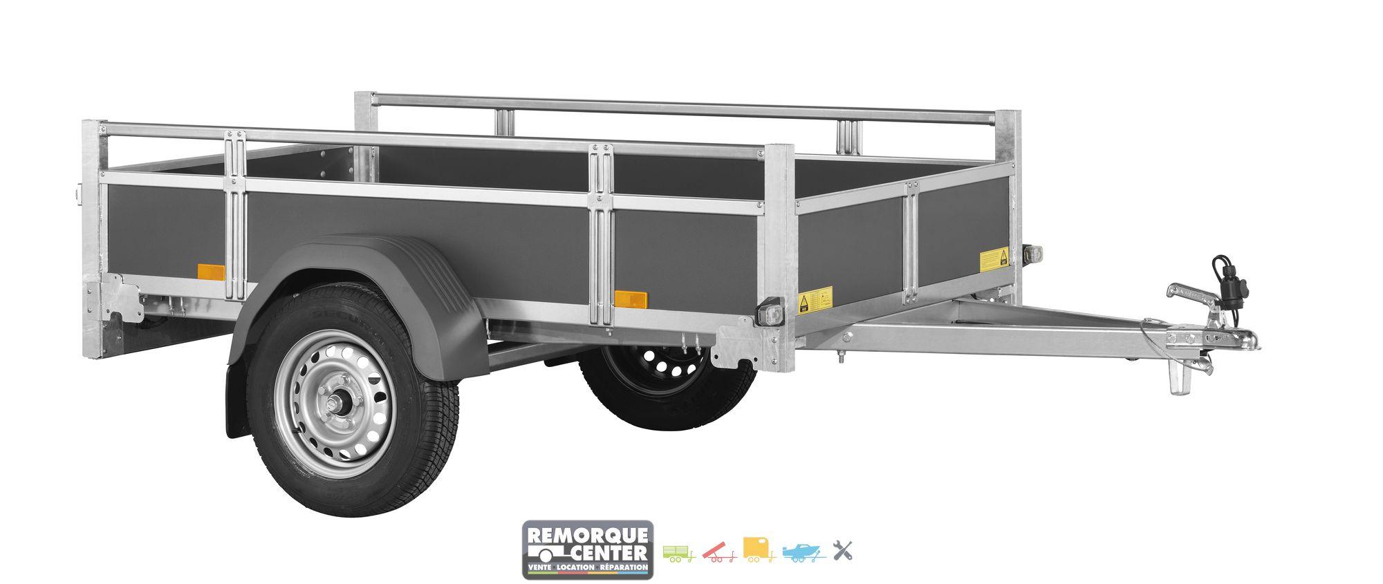 remorque bagag re en bois woody bt75 remorque center. Black Bedroom Furniture Sets. Home Design Ideas