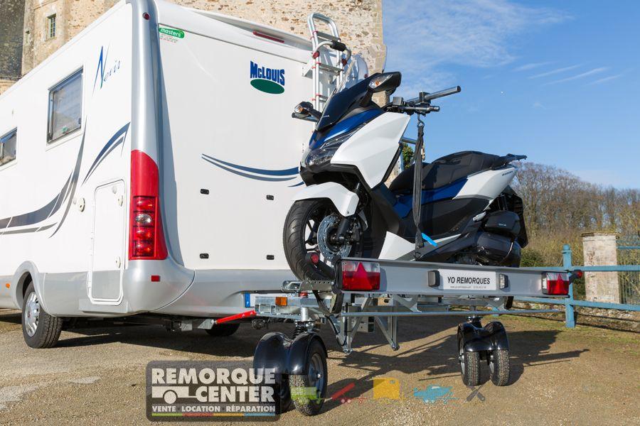 remorque moto 2 timons